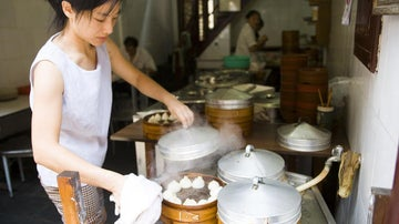 Can I get a cappuccino with those dumplings? What the Chinese eat for breakfast.