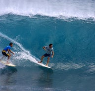 Surfing for novices amidst Bali's monster waves