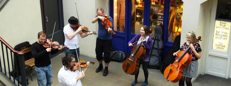 Performers in Covent Garden by Dave Catchpole