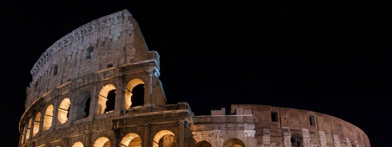 Colosseum at Night by Tom Sackton