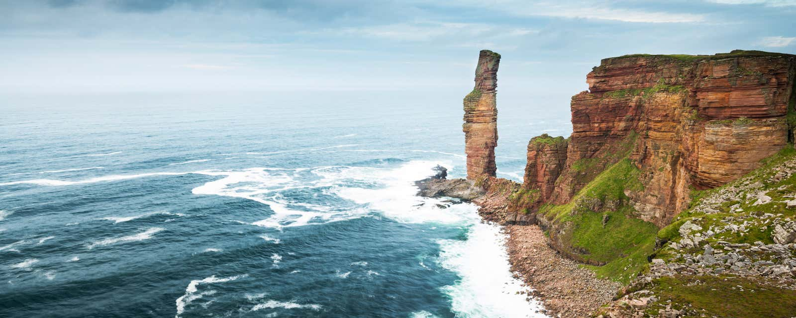 The Old Man of Hoy sea stack, Orkney, Scotland.