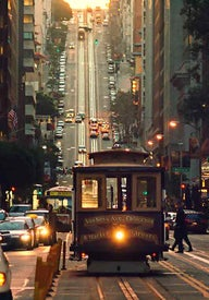 San Francisco by cable car