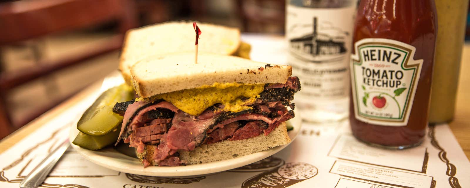 A pastrami on rye sandwich, Katz's Deli, New York City.