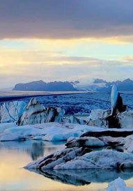 Volcanoes and glaciers in Iceland