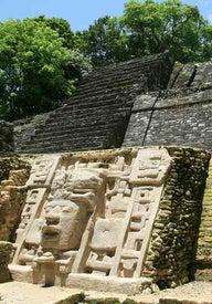 Ancient Maya ruins in Central America