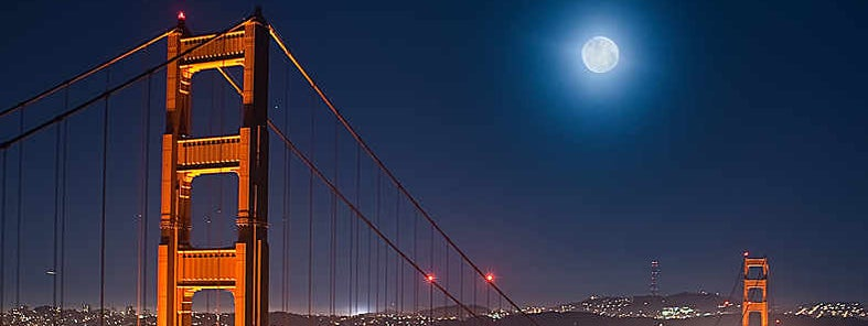 Golden Gate Moonrise by Anita Ritenour
