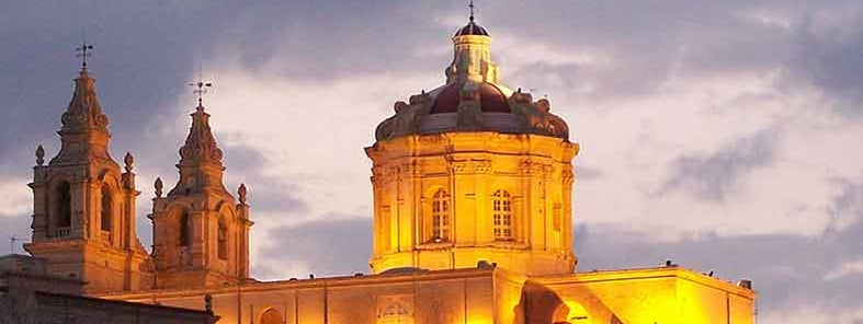 Mdina church at night  by greynforty