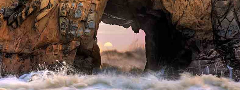 Portal of the sun, Pfeiffer beach by Jason Swearingen