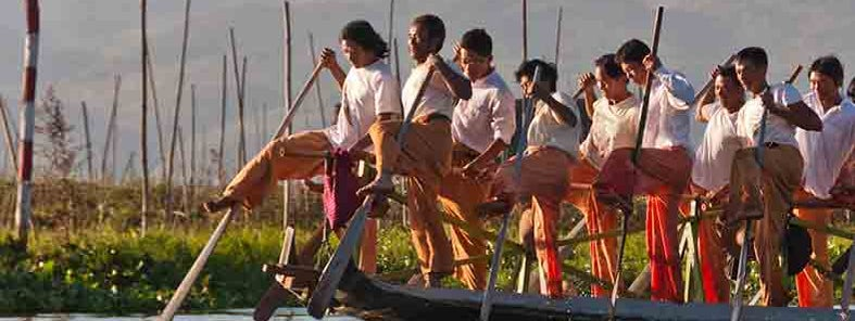 Inle Lake Leg Rowers by Mark Fischer