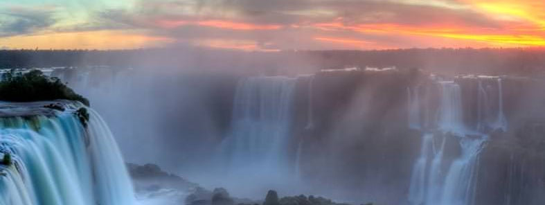 Sunset over Iguazu by SF Brit