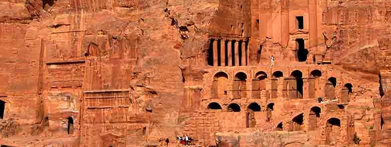 Royal tombs in Petra, Jordan - by Dennis Jarvis