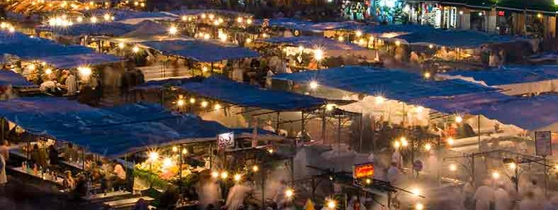 Djemaa El Fna at sunset by Michal Osmenda