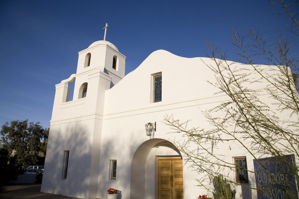 Adobe mission in Old Town Scottsdale.