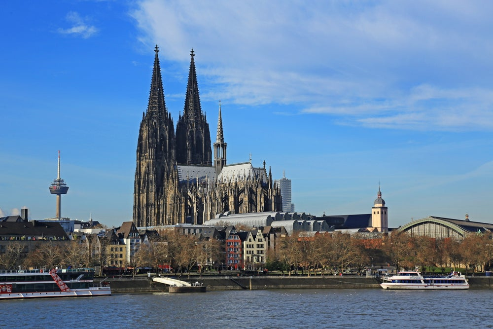 Kölner Dom and the Rhine.