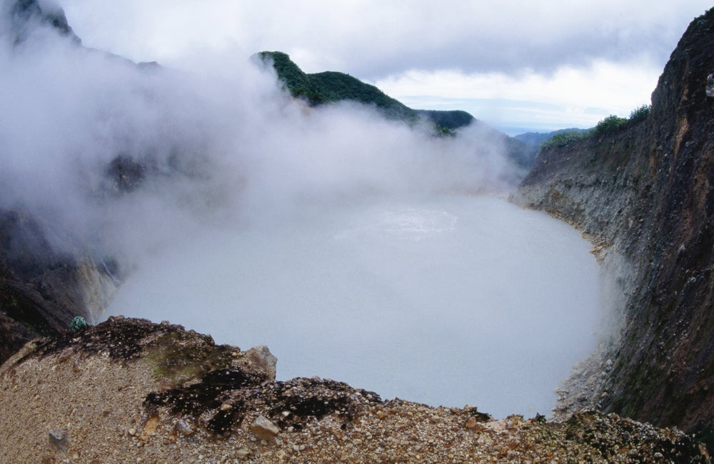 Boiling Lake in Morne Trois Pitons National Park.
