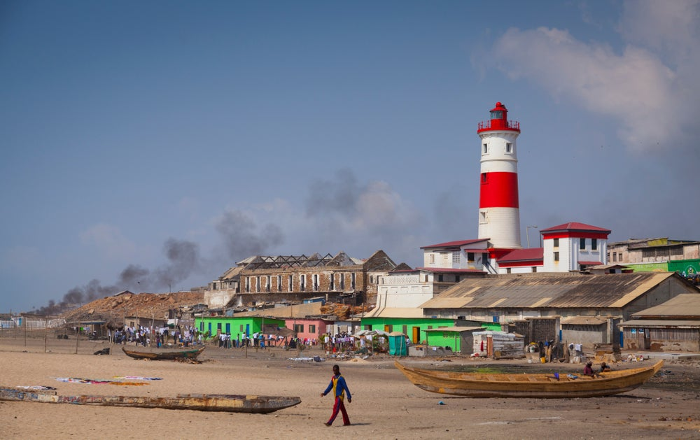 Jamestown Lighthouse in Accra.