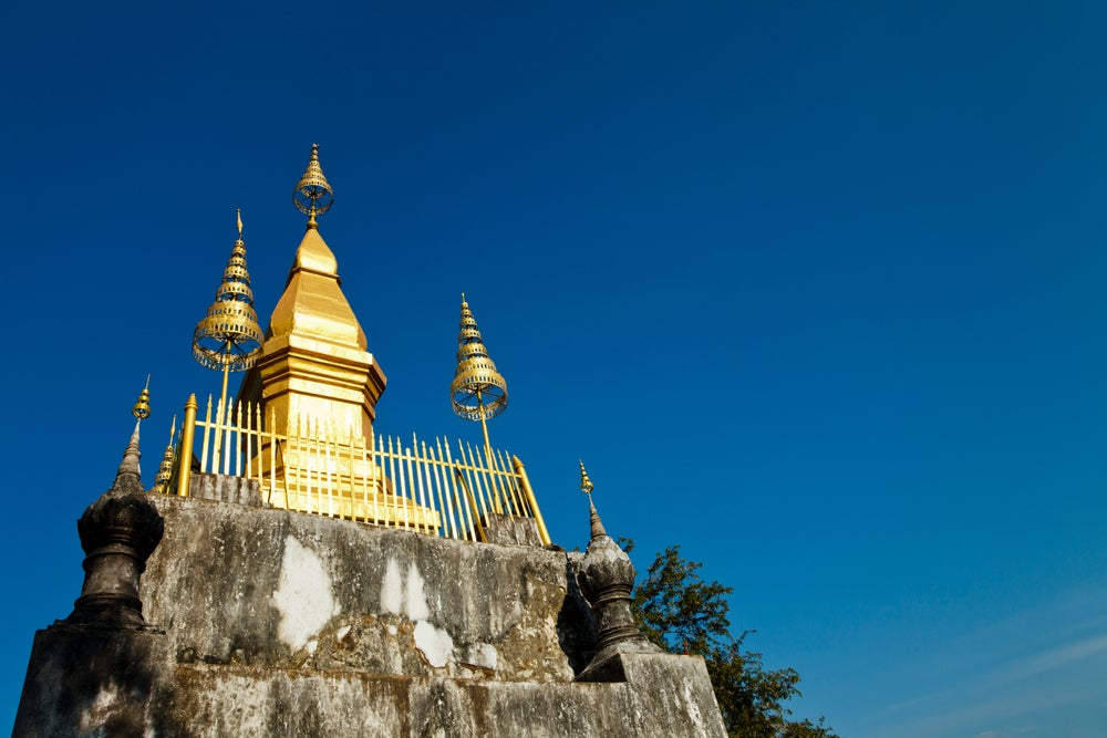 That Chomsi stupa at Phu Si.