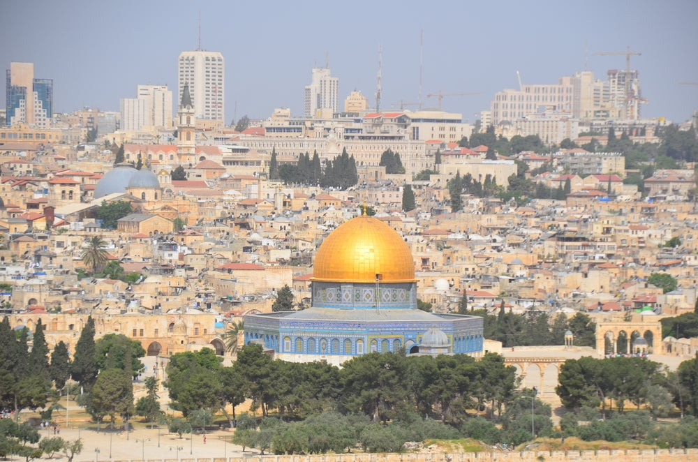 Jerusalem and the Dome of the Rock.