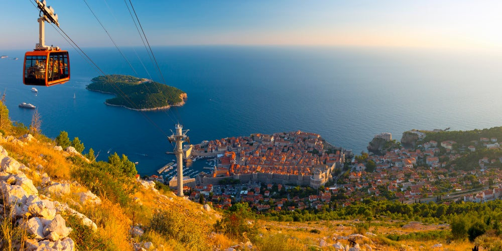 Dubrovnik's cable car.