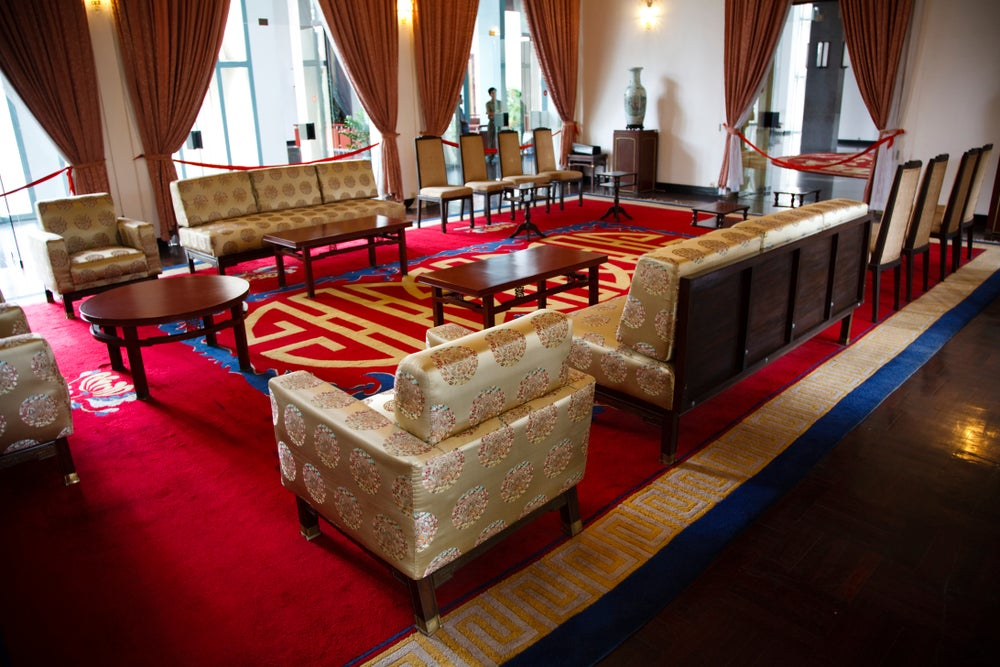 The President's National Reception Room at the Reunification Palace.