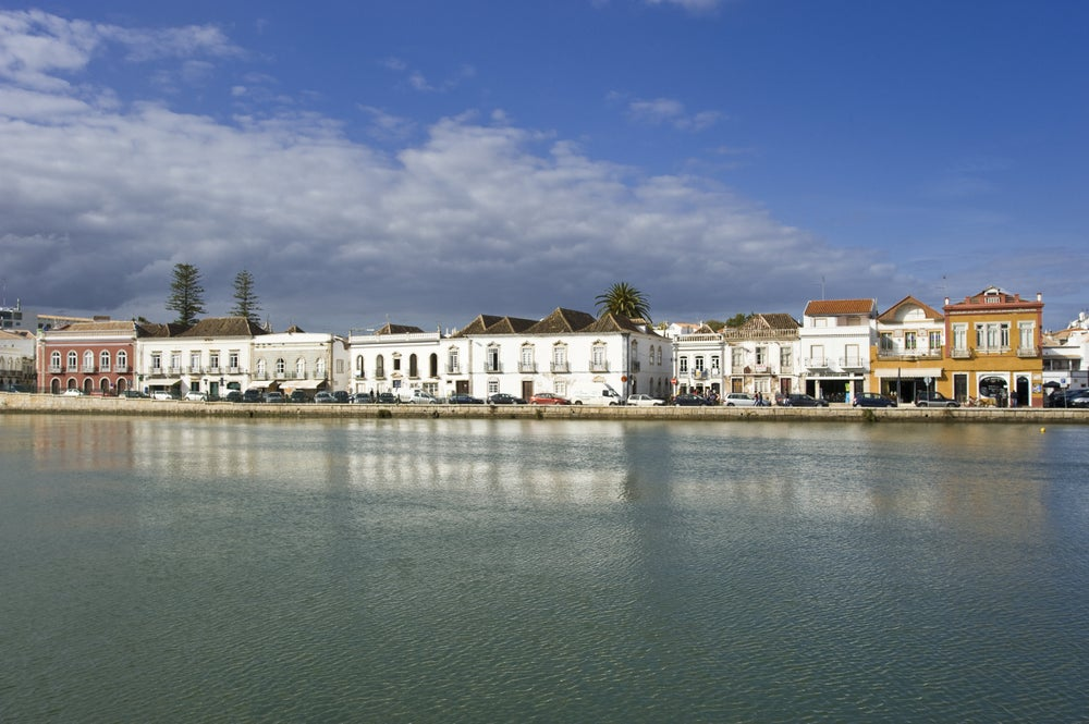 Tavira's old town and Rio Gilao.