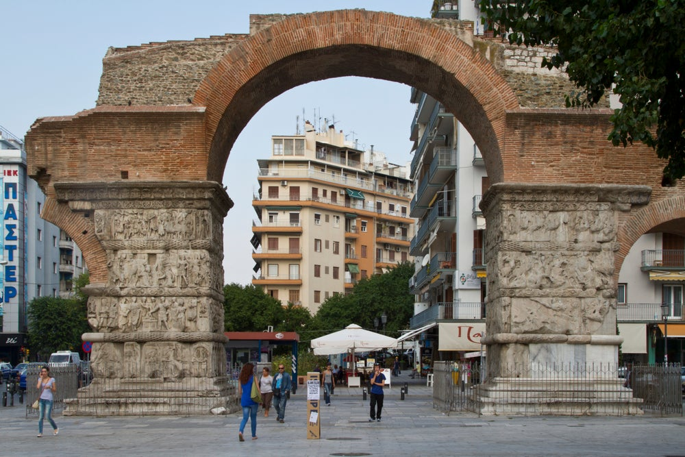 Arch at Palace of Galerius.