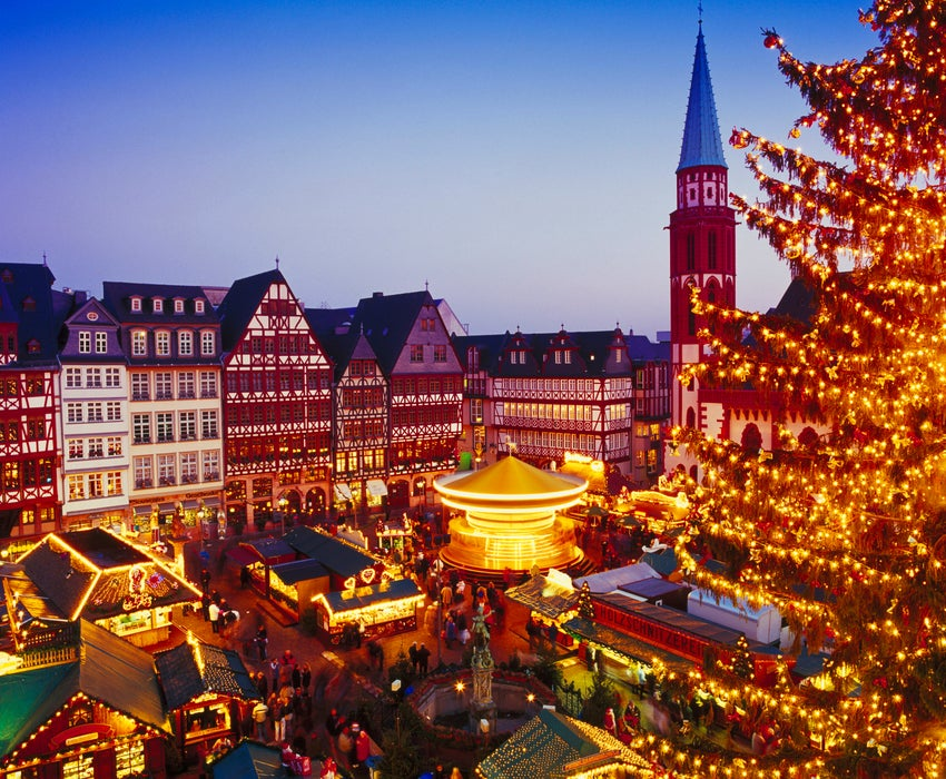Christmas Market in Frankfurt.