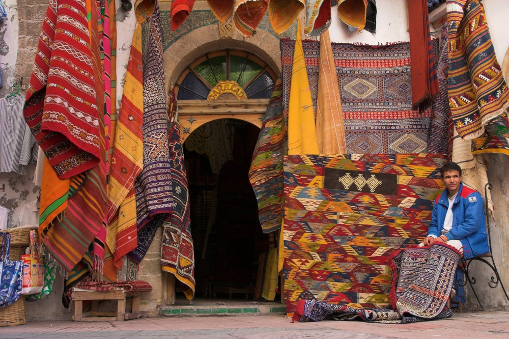 Carpet shop in Essaouira's medina.