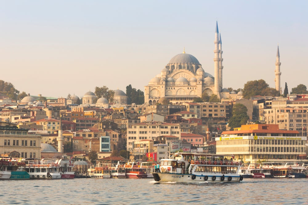 Süleymaniye Mosque and the Golden Horn.