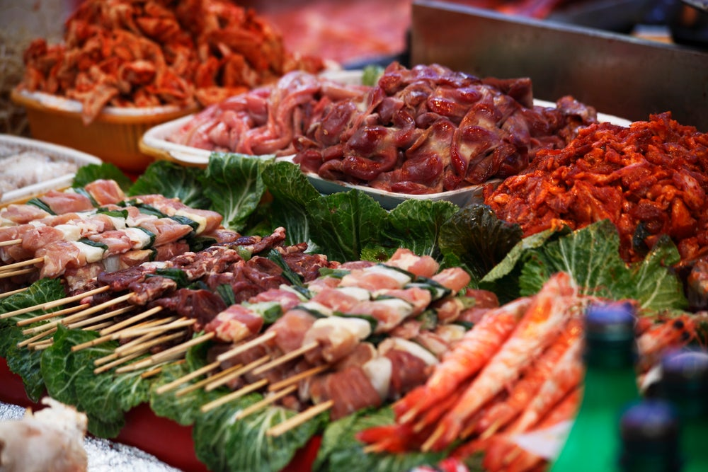 Korean foods at Namdaemun Market.