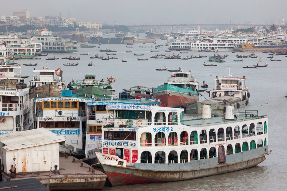 Ferries on the Buriganga River, Sadarghat, Dhaka