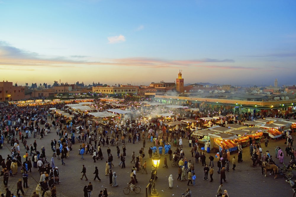 Crowds at Djemaa El-Fna.
