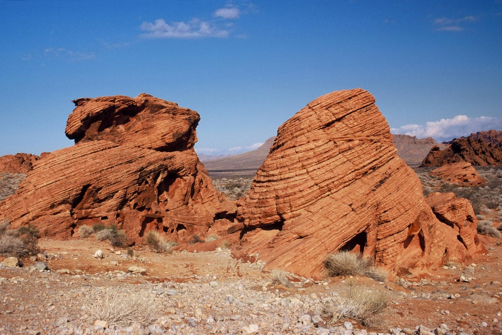 Desert sandstones at Valley of Fire State Park.