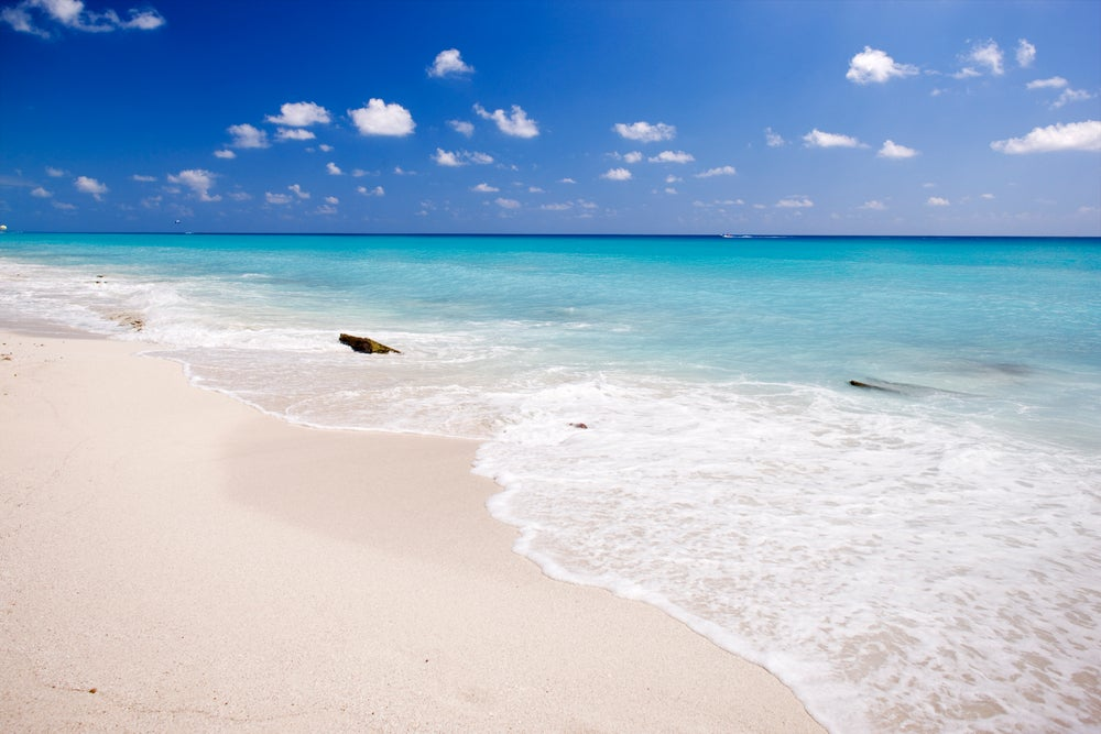 Playa Delfines (Dolphin Beach) is the quintessential Caribbean beach.