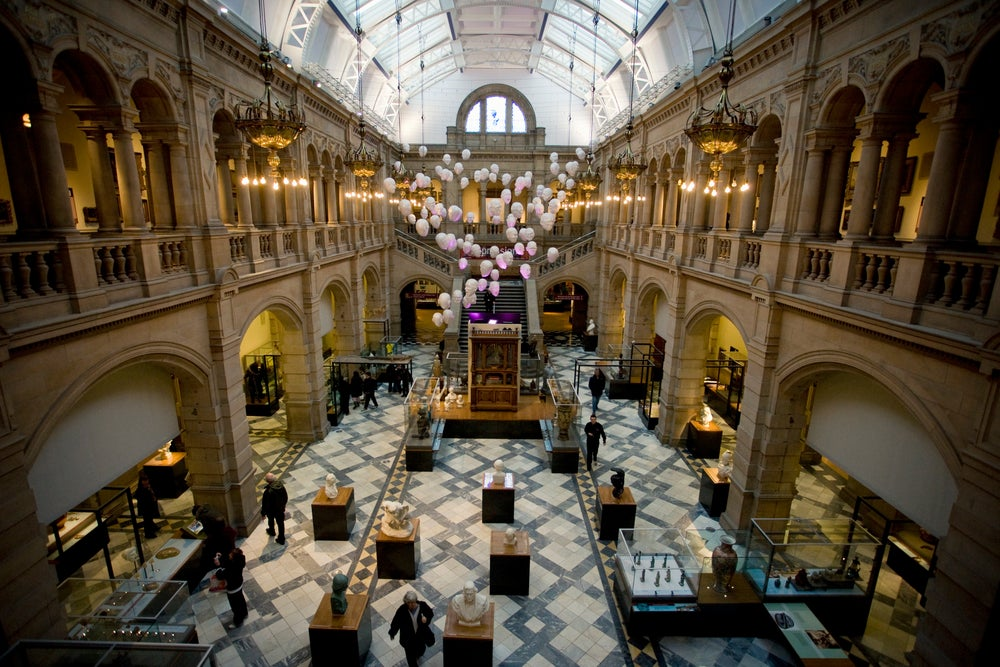 Exhibition hall in Kelvingrove Art Gallery and Museum.