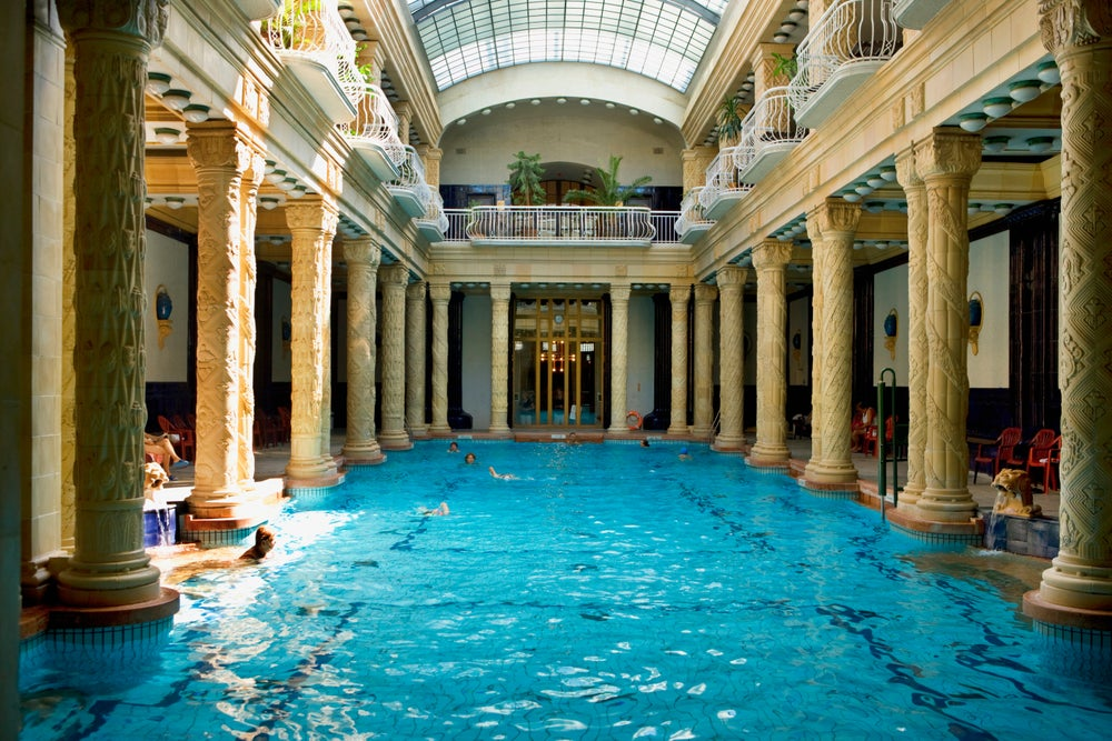 The effervescent swimming pool in Gellért Baths.
