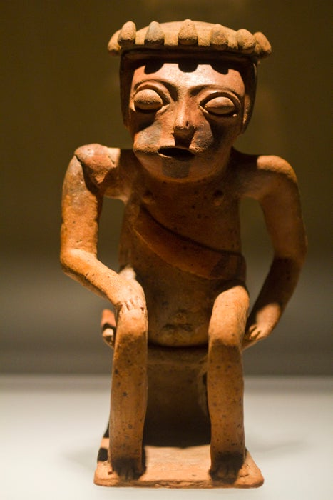 Ceramic figurine at the Museo del Oro.