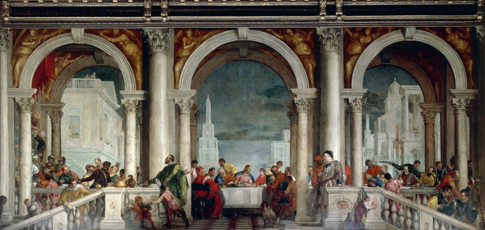 Feast in House of Levi by Veronese in Venice's Gallerie dell'Accademia.