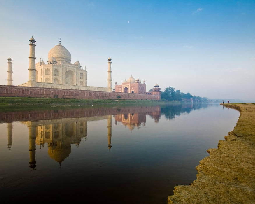 Taj Mahal from the Yamuna River, Agra, Uttar Pradesh