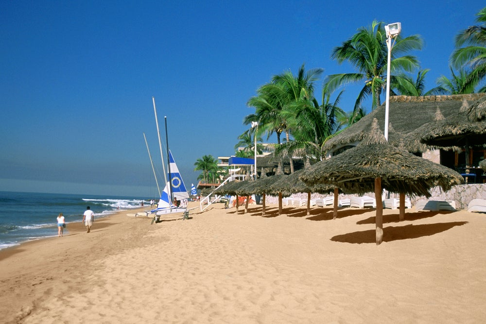 Golden Zone Beach in Mazatlán.