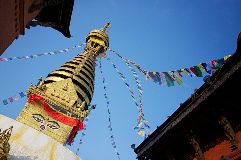 Flags at Swayambhunath stupa