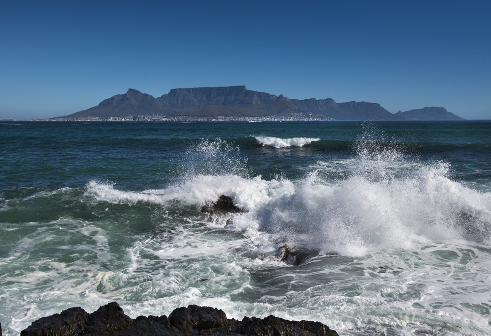 View of Cape Town from Robben Island.