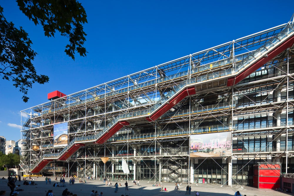 Centre Pompidou by architects Renzo Piano, Richard Rogers and Gianfranco Franchin.