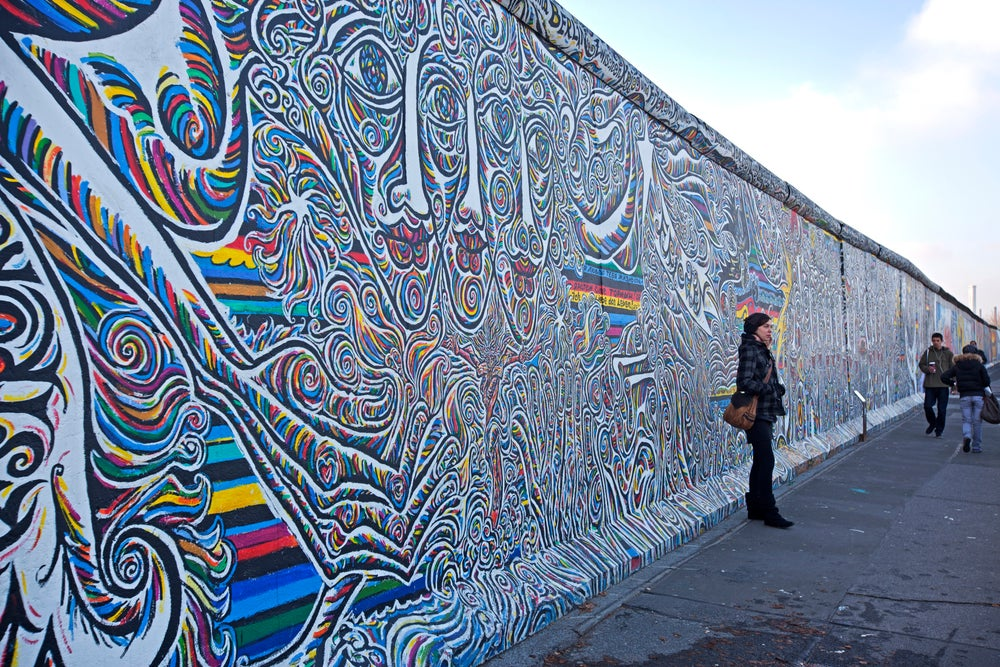 Berlin's East Side Gallery.