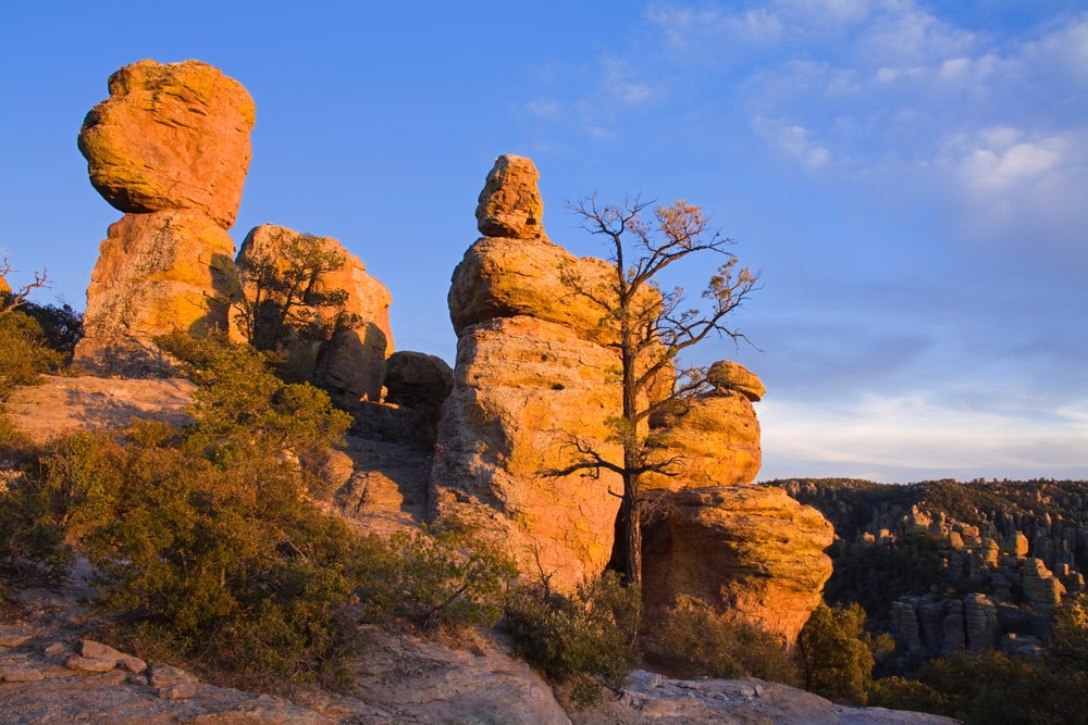 Rock formations in Chiricahua National Monument.