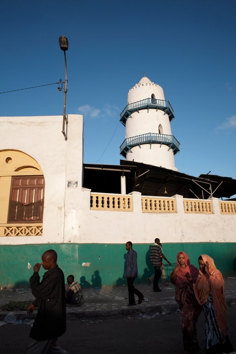 The Hamoudi Mosque in the African Quarter of Djibouti City.