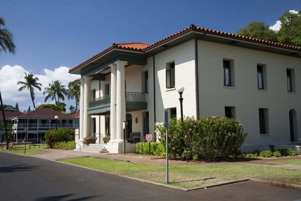 Old Lahaina Courthouse.