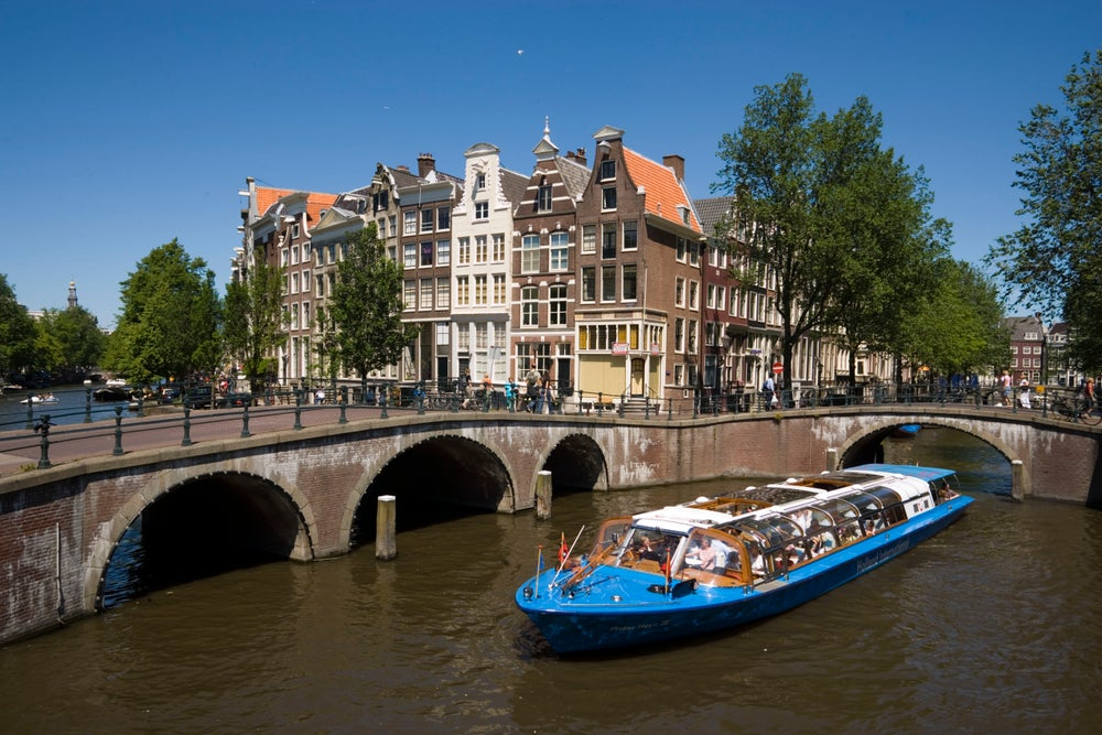 Canal tours in Utrecht.