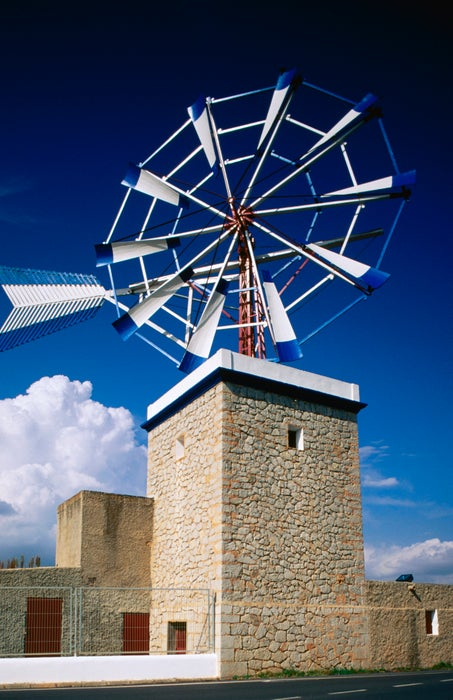 Traditional Windmill, Es Raco, Ibiza, Balearic Islands