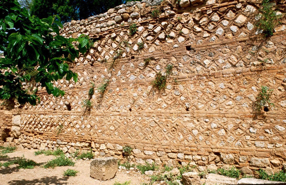 Detail of ruins at Delphi.